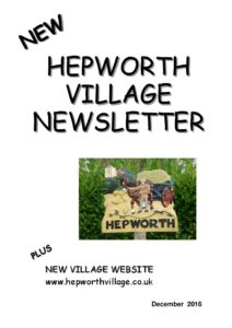 Image of front cover of Hepworth Newsletter 2016-12